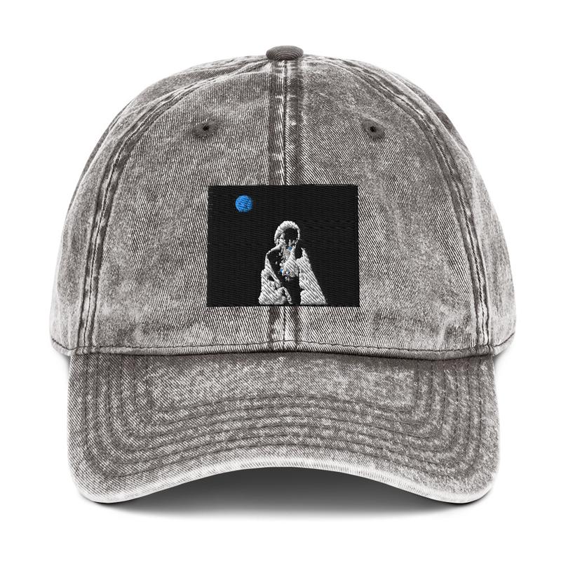 Vintage Cotton Twill Cap (sexsax Black Sky)