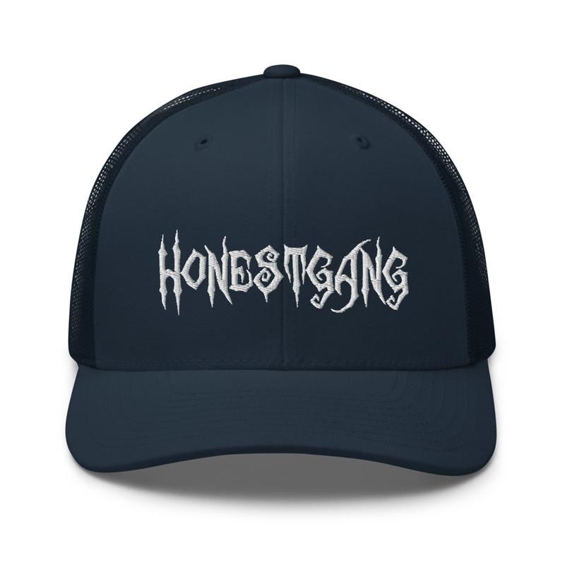 HONESTGANG Embroidered Trucker Cap