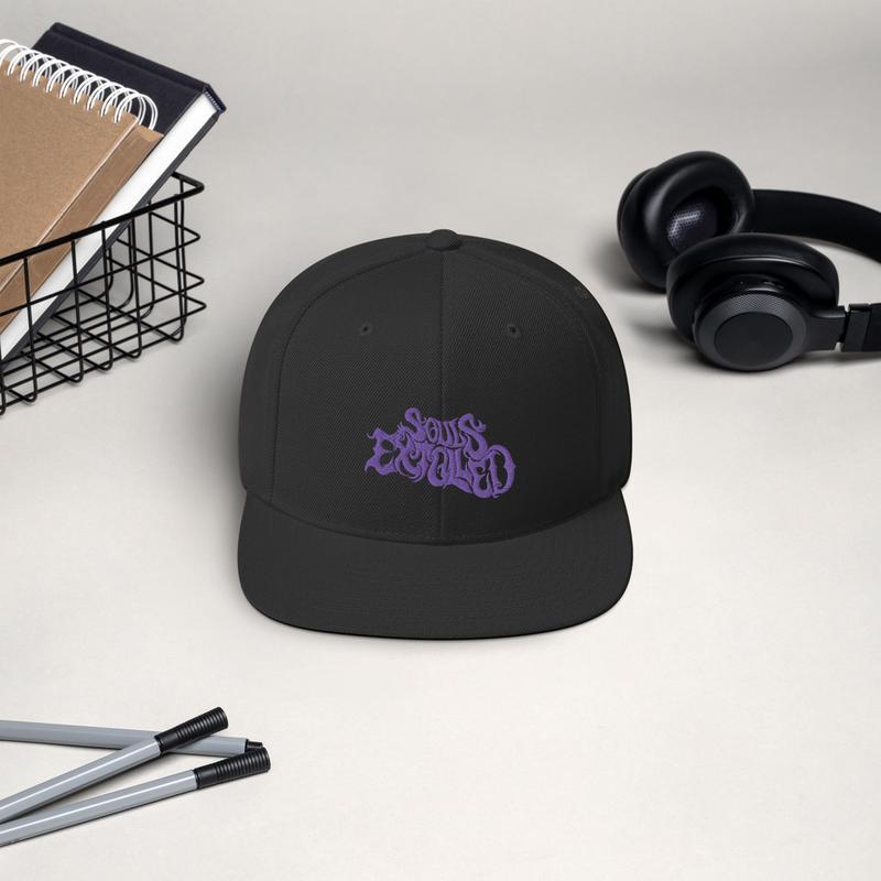 Souls Extolled Flat Bill Hat - Purple on Black