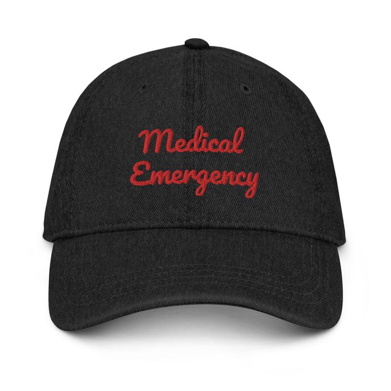 Medical Emergency Denim Cap