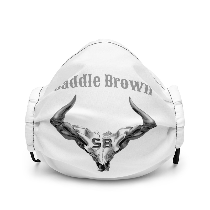 The Official Saddle Brown Logo Premium face mask