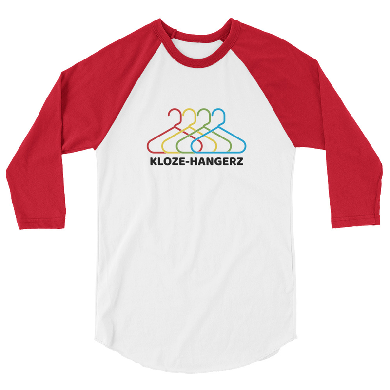 Kloze-Hangerz - 3/4 sleeve raglan shirt  - Multiple colors available