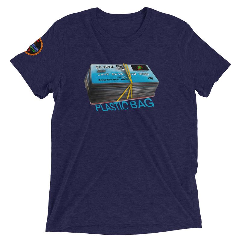 Plastic bag  Unisex Short sleeve t-shirt