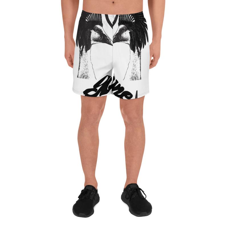 Men's Athletic Long Shorts- Goose Wayne + Dead Face