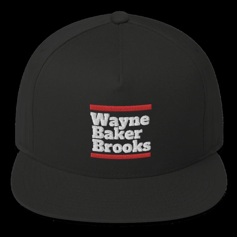 Wayne Baker Brooks Flat Bill Cap (stitched)