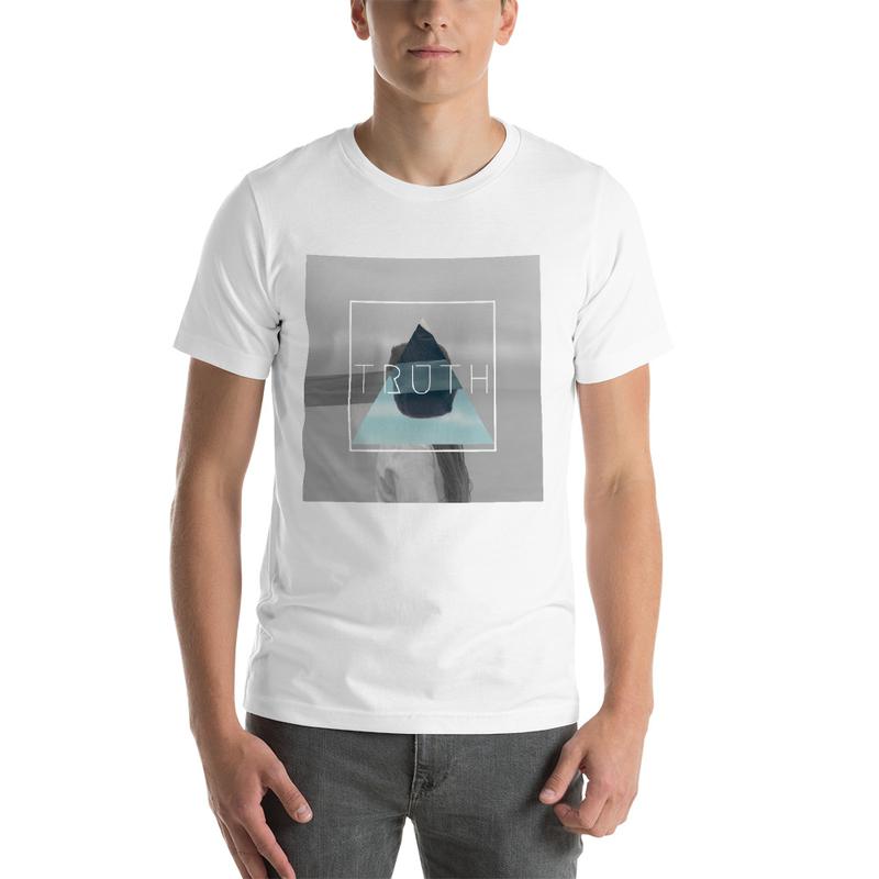 Truth Lofi Hip Hop Music Melancholy T-Shirt, Geometric Blindfold