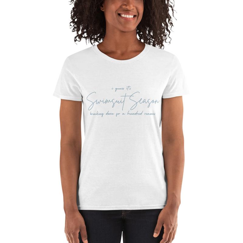 Swimsuit Season Lyrics Women's short sleeve t-shirt