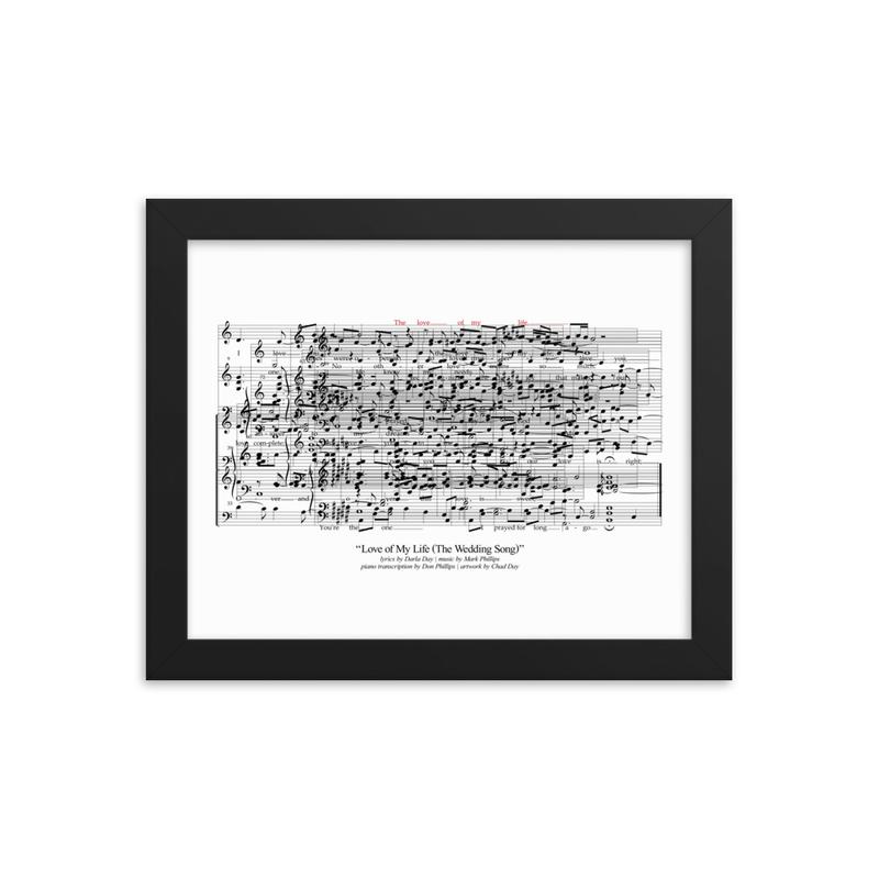"""Love of My Life"" Framed Anniversary Artwork"