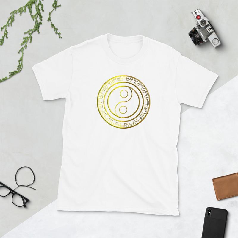Gold Yin-Yang (Unisex T-Shirt)