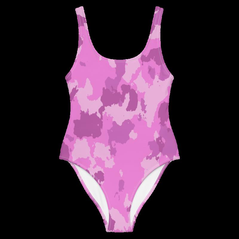 CDMG One-Piece Swimsuit Camo Pink