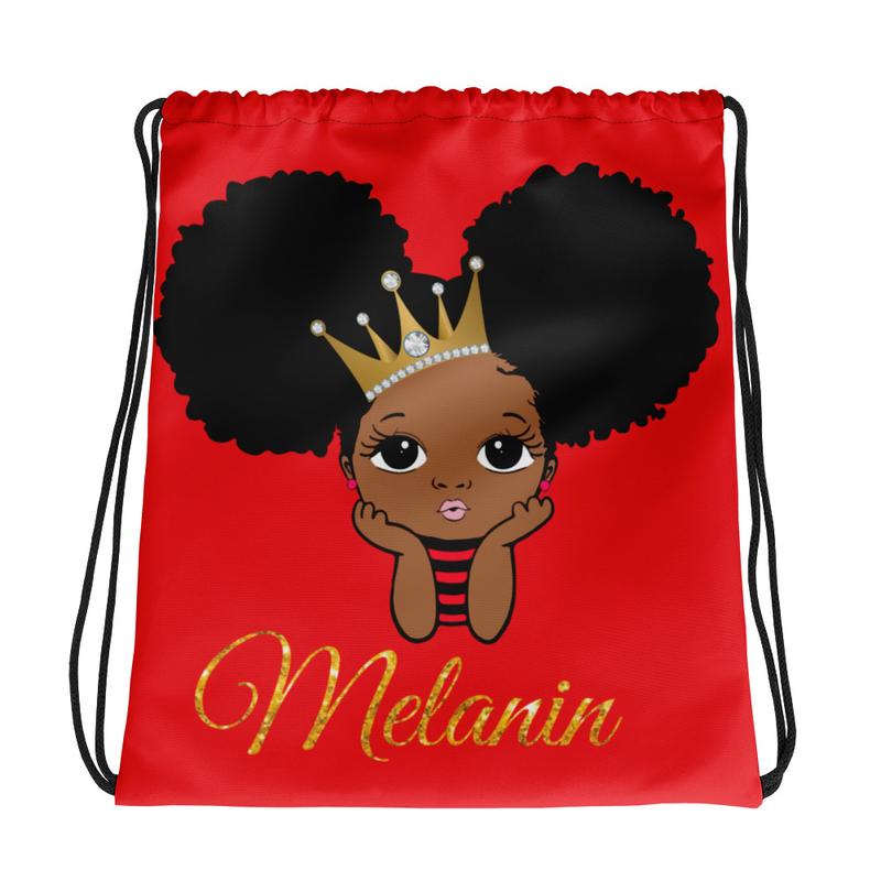 Princess Melanin Drawstring bag