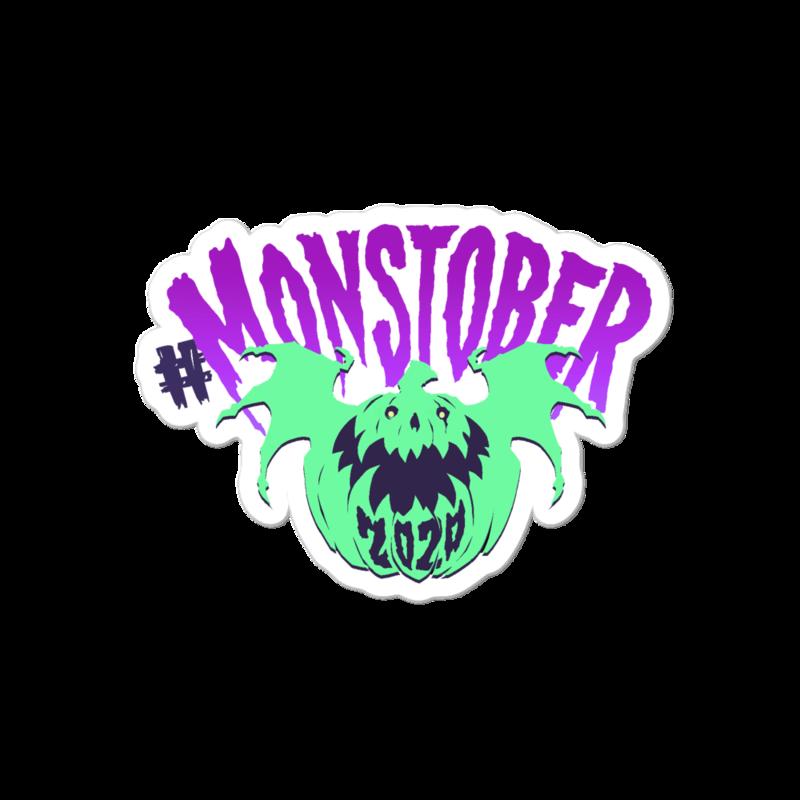 Monstober2020 Sticky Pumpkin - Kiss Cut Stickers (4x4in)