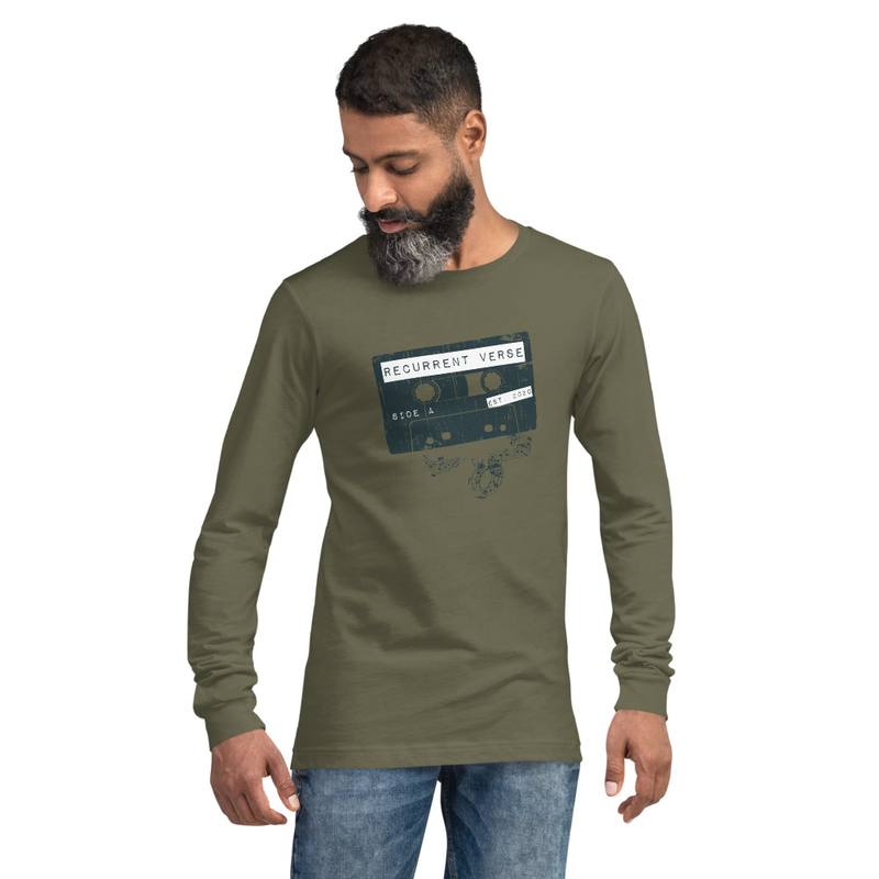 Unisex Long Sleeve Tape Logo Tee