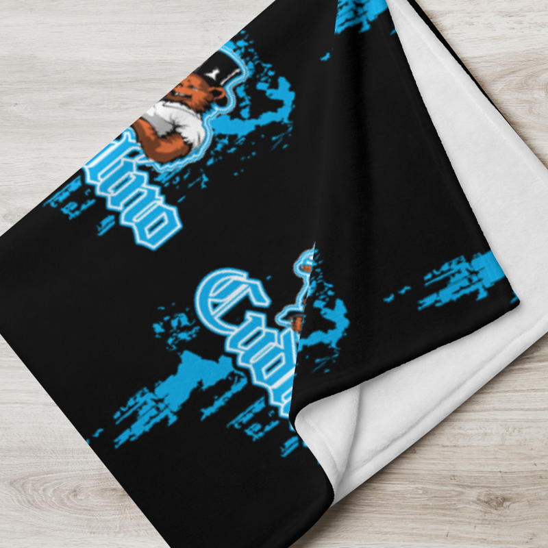 Cudlino Dripping Paint Logo - Black Throw Blanket