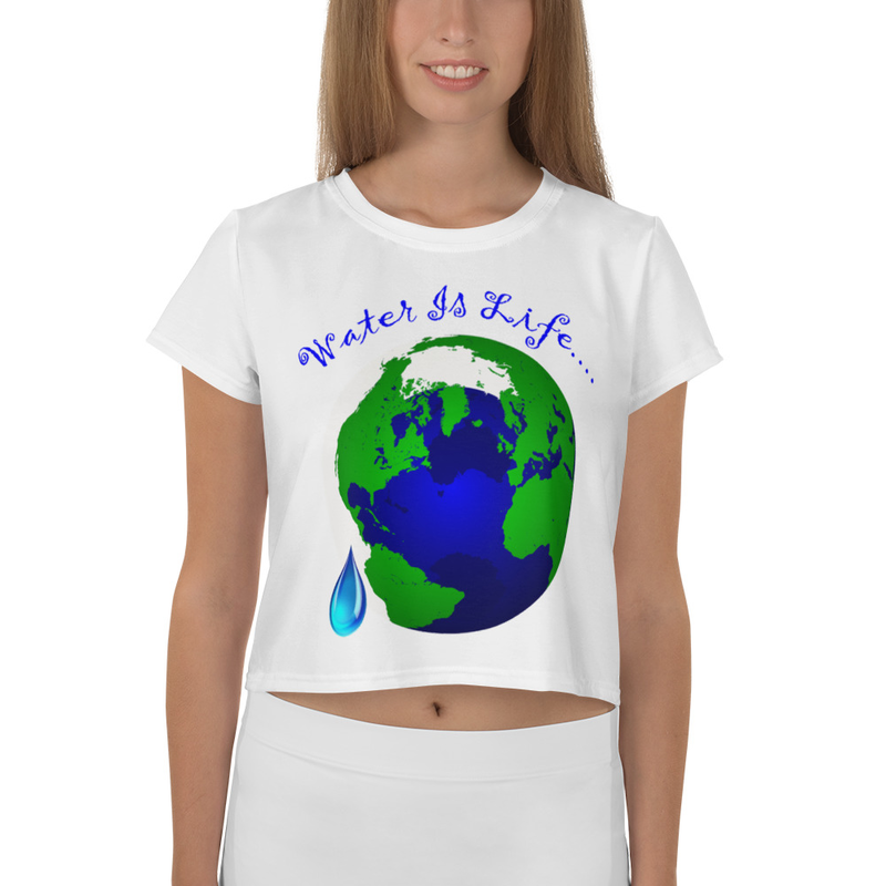 Water Is Life - All-Over Print Crop Tee