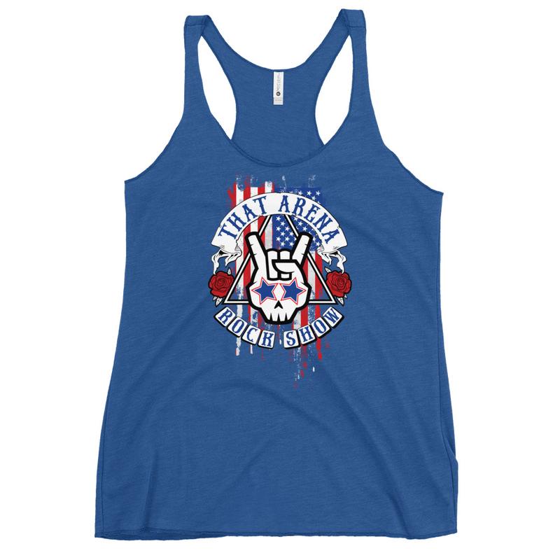American Flag Women's Racerback Tank