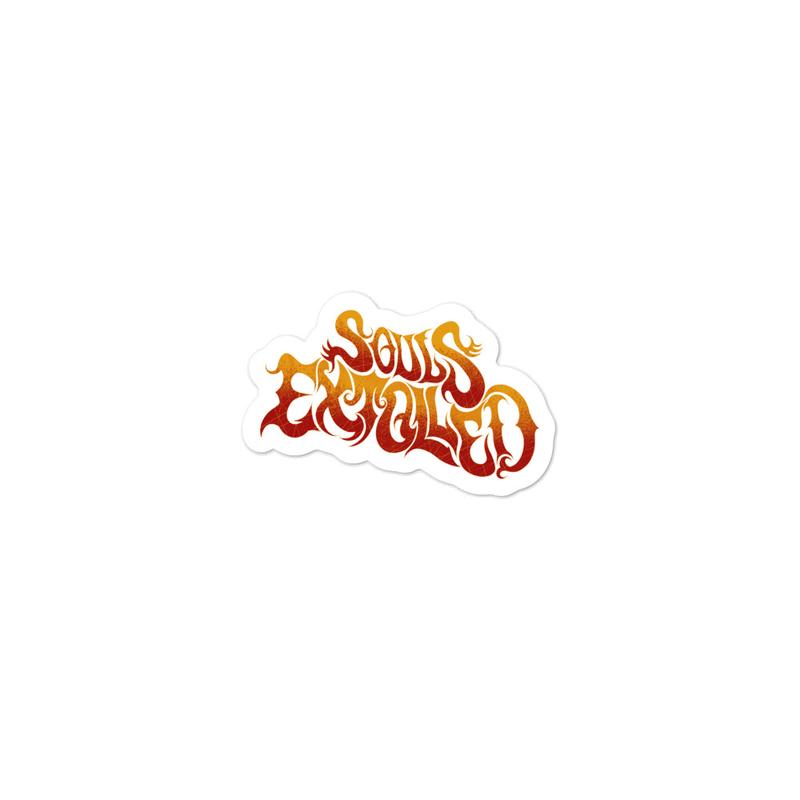 Souls Extolled Burnt Yellow/Orange Logo Stickers