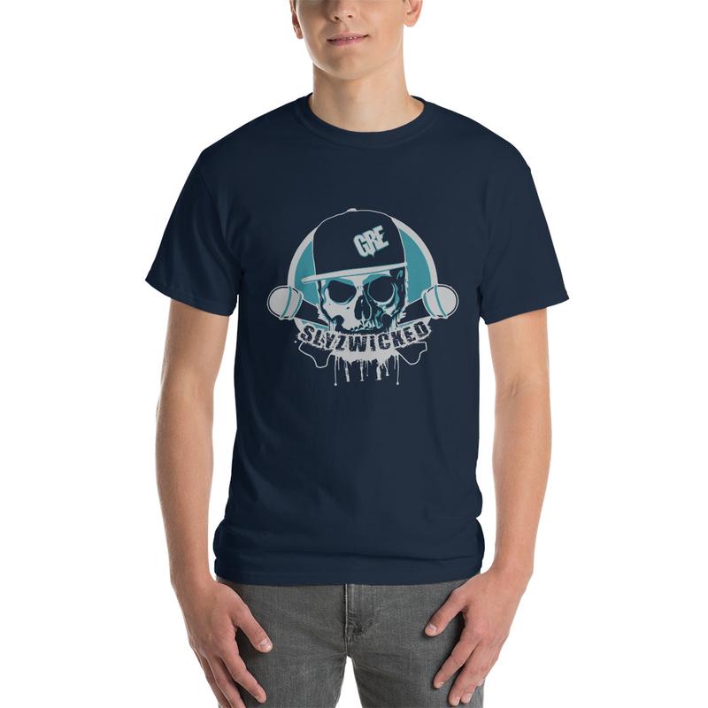 Men's Slyzwicked Logo T-Shirt (Ocean Blue/Grey Print)