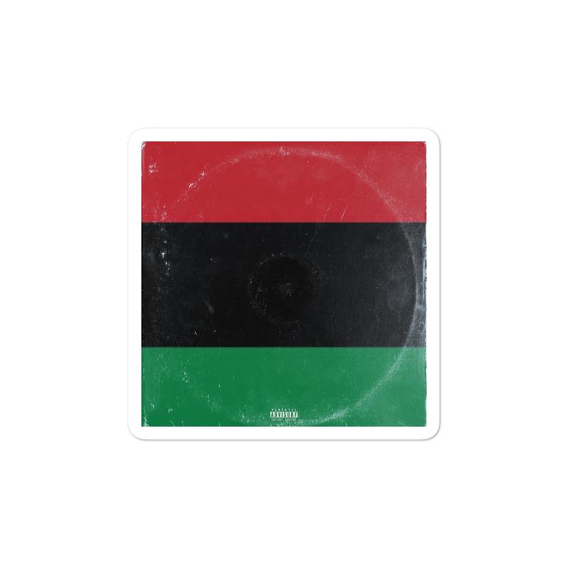 BLACK Album Cover Bubble-free stickers