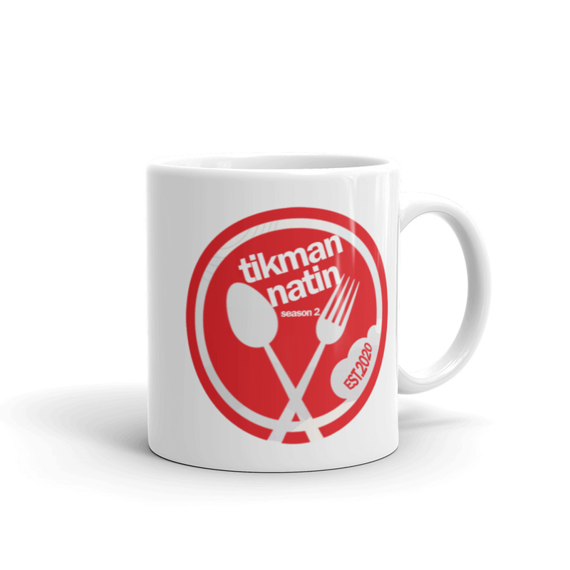 Tikman Natin Spoon Fork White glossy mug