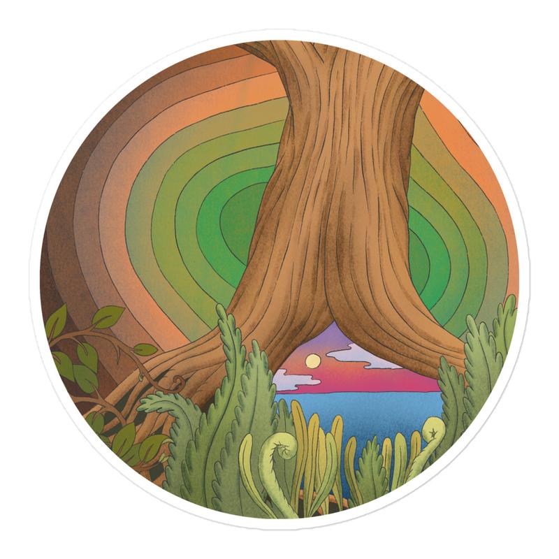 Album circle sticker