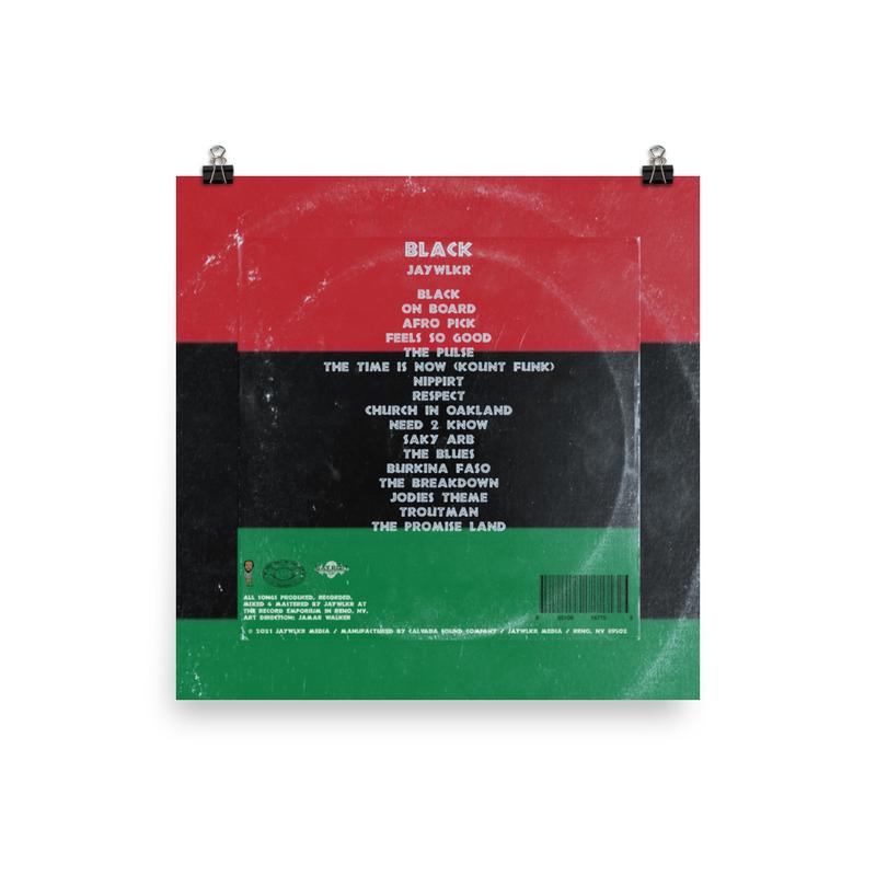BLACK ALBUM COVER Photo paper poster