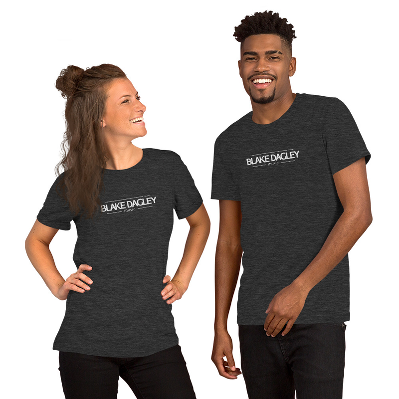 Blake Dagley Music: Short-Sleeve Unisex T-Shirt (White Logo)