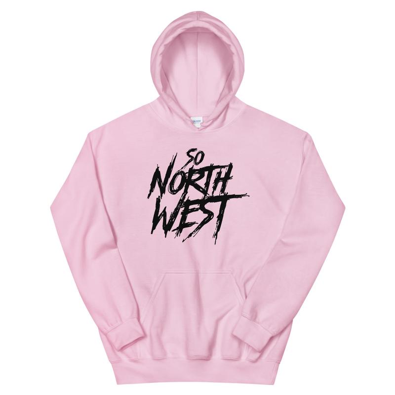 So North West Black Logo Unisex Hoodie