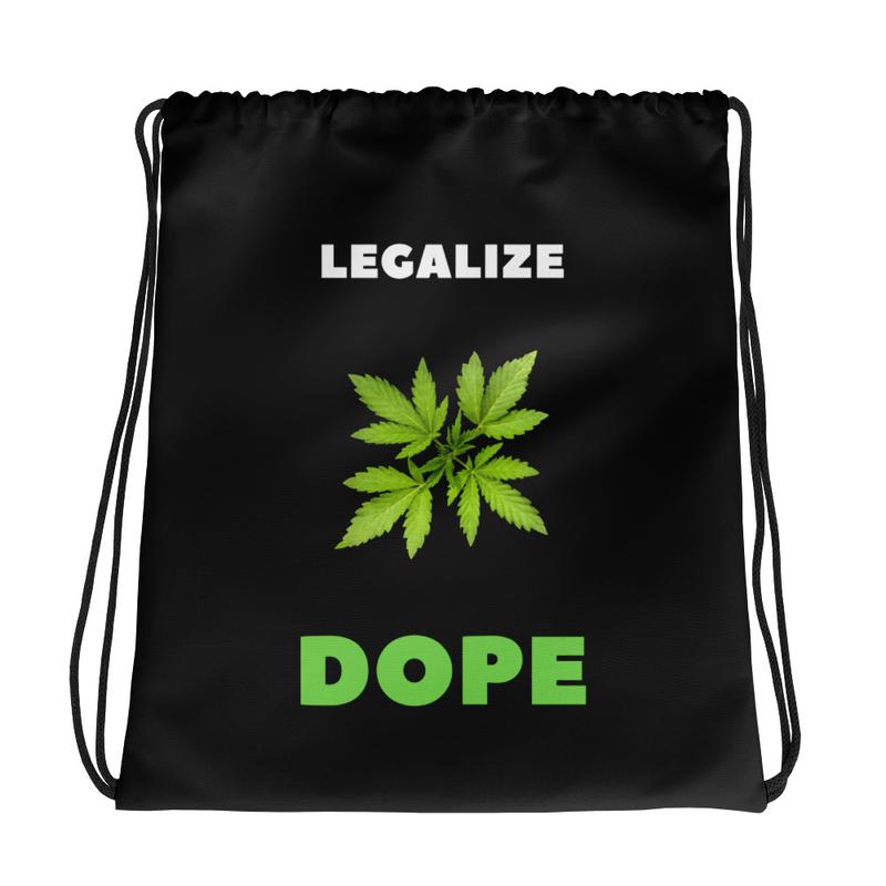 Legalize Dope Drawstring bag