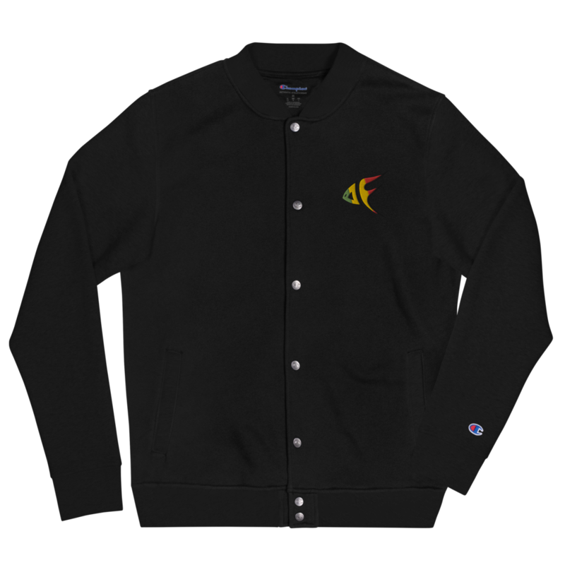 DF Logo Embroidered Champion Bomber Jacket