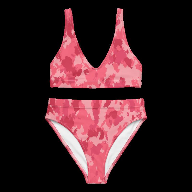 CDMG High Waist Bikini Camo Red