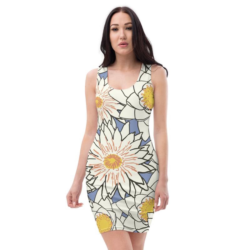 AHoney Lotus Flower Bomb Sublimation Cut & Sew Dress