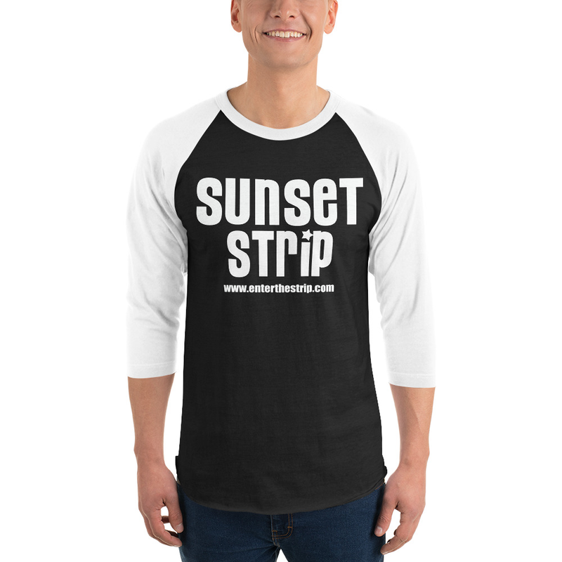 """Sunset Strip """"Plain Joe"""" 3/4 Sleeve Raglan Shirt"""