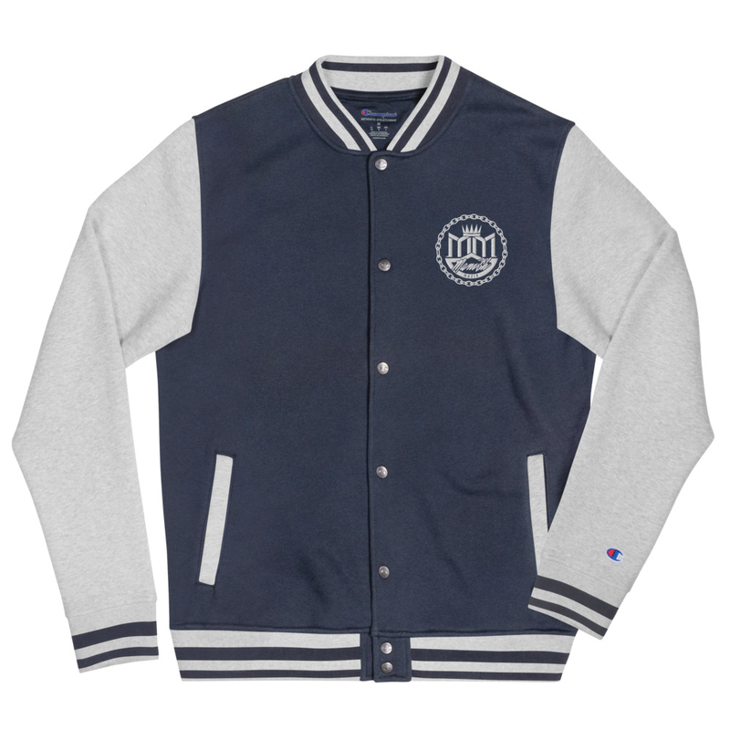 Embroidered Champion Bomber Jacket - MANi$H Logo