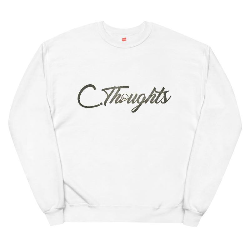 C.Thoughts Logo White Sweatshirt