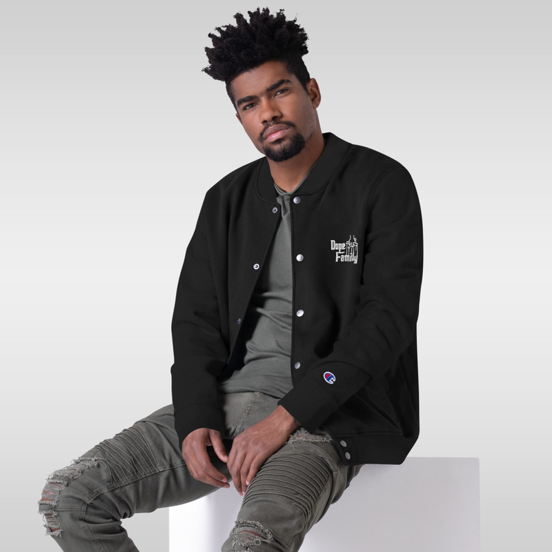 Embroidered Champion Dope Family Bomber Jacket