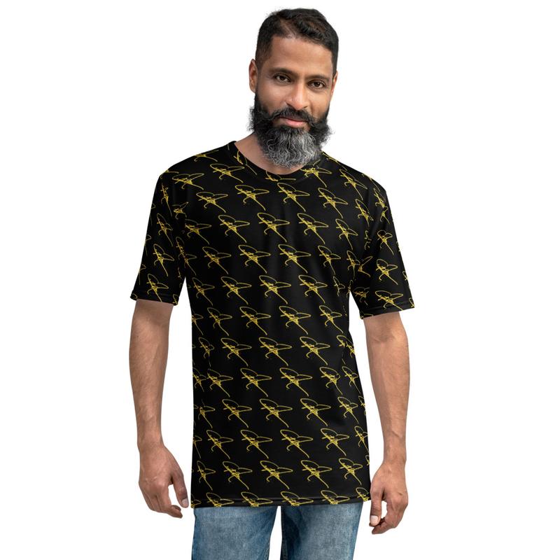 Men's T-shirt - Crystal Mia Signature - Black/Gold