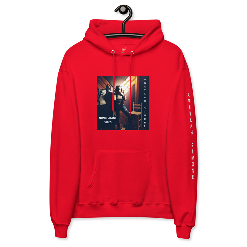 NONCHALANT VIBES Unisex fleece hoodie