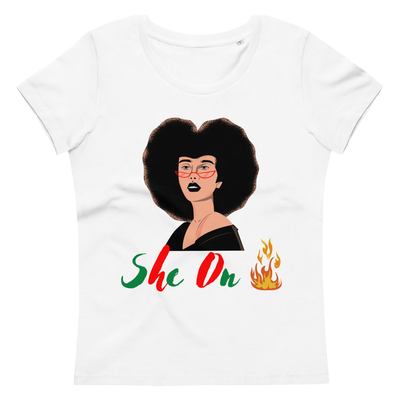 She On Fire Women's fitted eco tee
