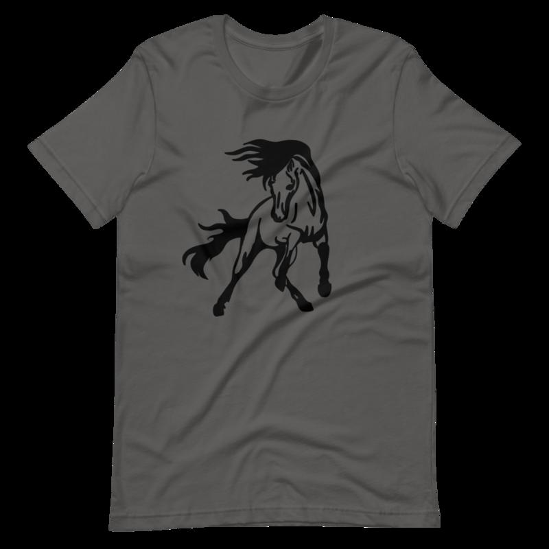 Horse Logo Short-Sleeve Unisex T-Shirt