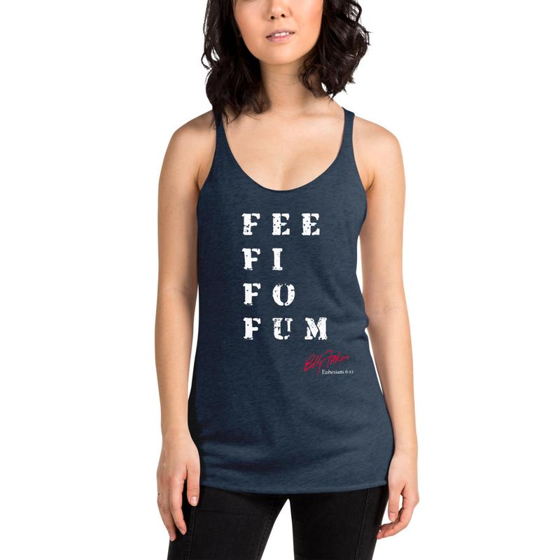 """Fee Fi Fo Fum"" (Sleeping GIANT) Women's Racerback Tank"