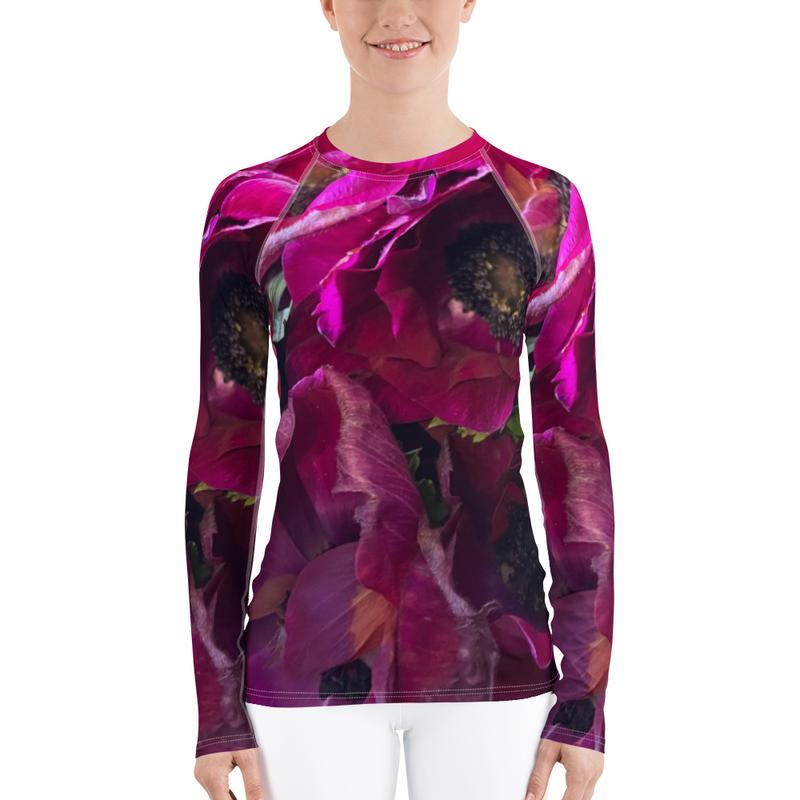 Rose and Poppy Women's Rash Guard Shirt