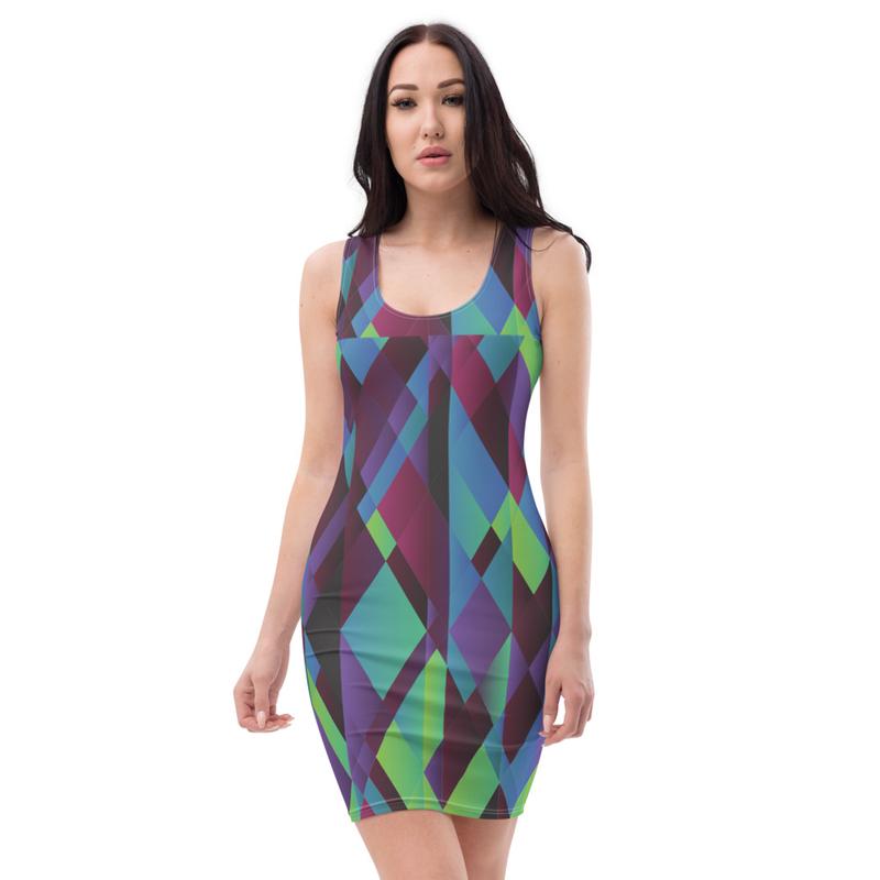 AHoney Violet Diamonds Sublimation Cut & Sew Dress