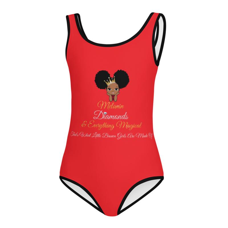 Princess Melanin Affirmation Kids Swimsuit