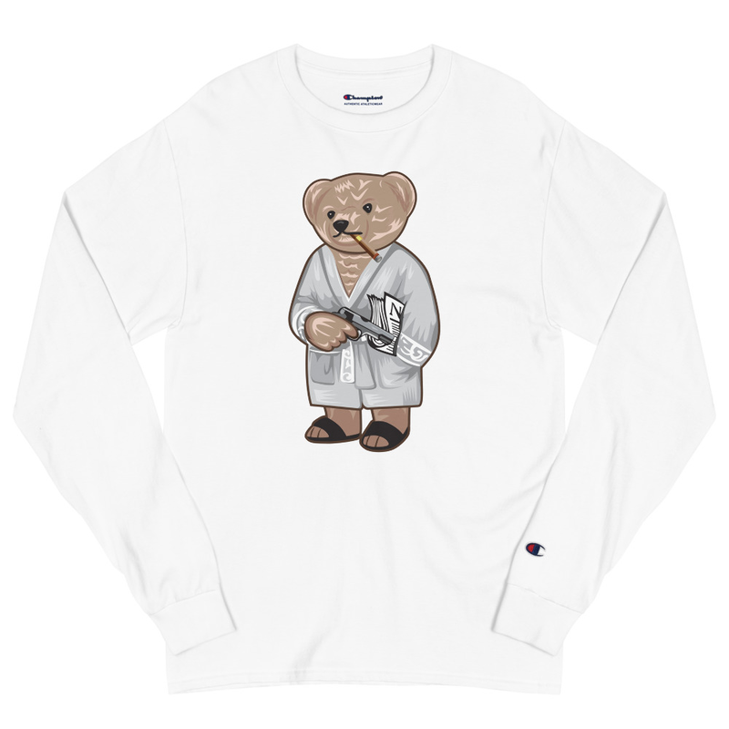 Tony Bear Champion Long Sleeve Shirt