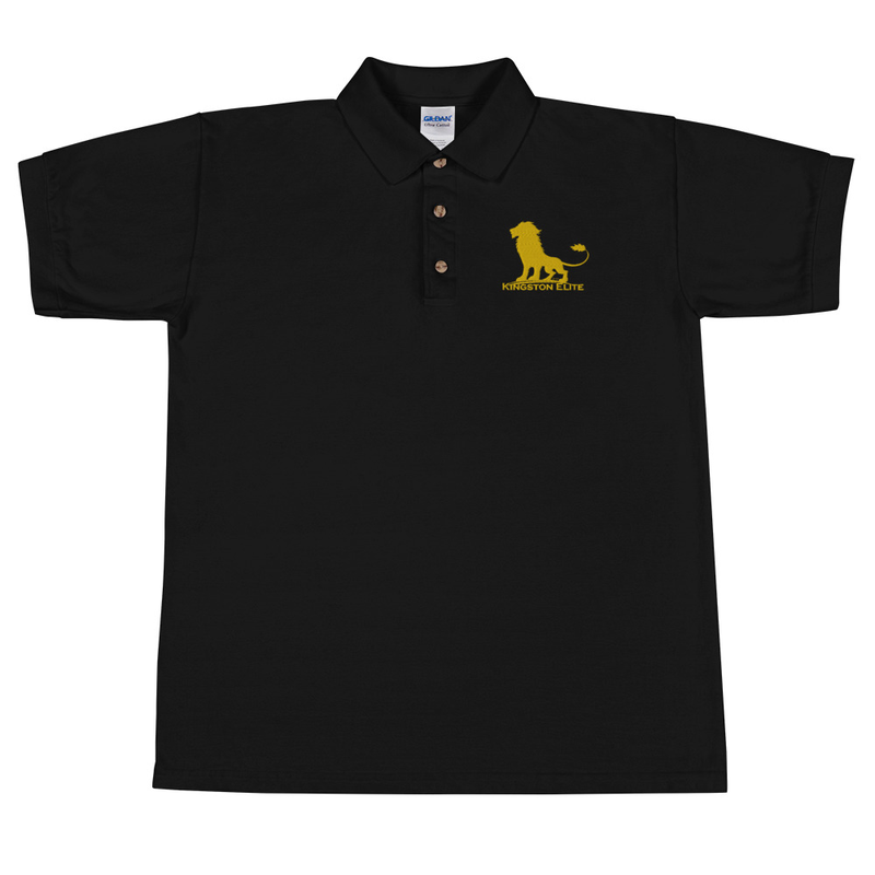 Kingston Elite Embroidered Polo Shirt Gold