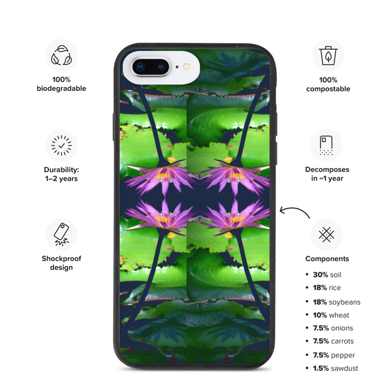 Biodegradable Hawaii Lotus iPhone case