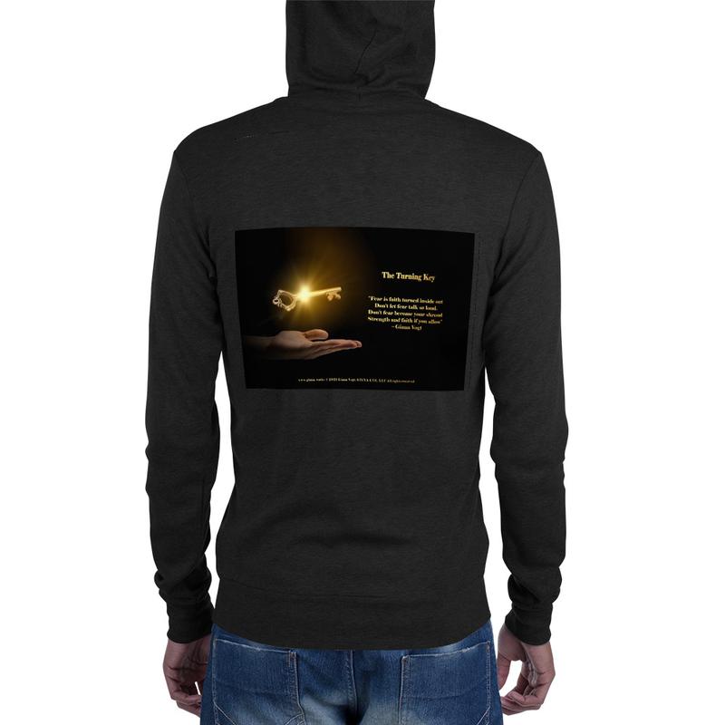 The Turning Key Unisex zip hoodie