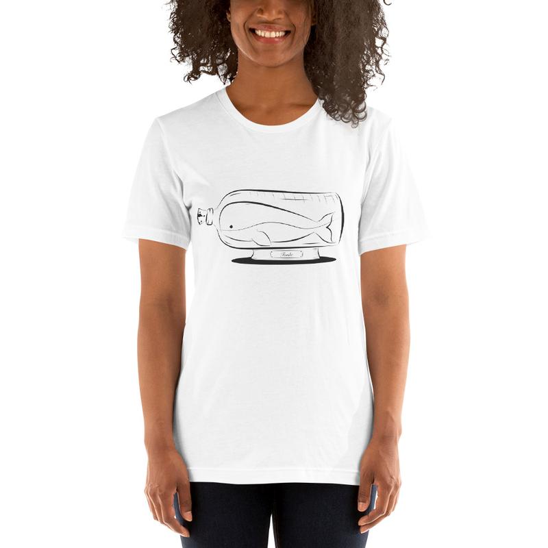 BottledUpWhale - Hvid T-Shirt