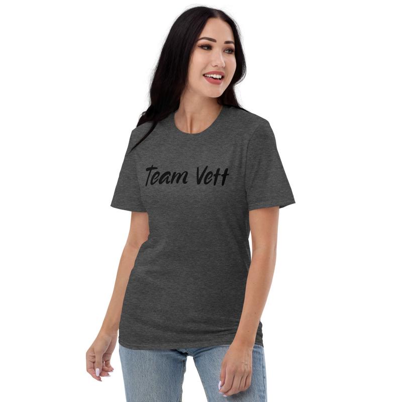Team Vett Short-Sleeve T-Shirt Black Text